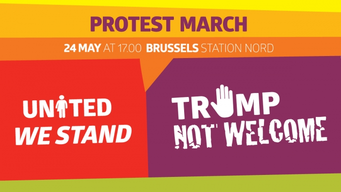 24 mei protestmars Trump not Welcome, Brussel